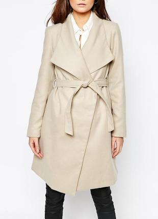 В наличии - актуальное пальто с поясом *new look* 14/42 р.