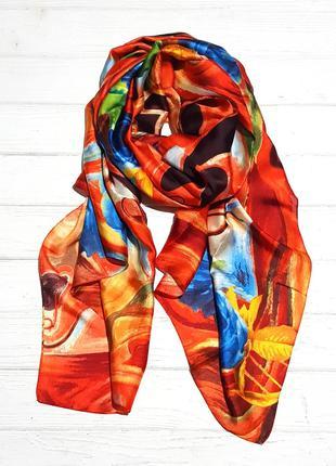 Яркий шарф весенние акварели