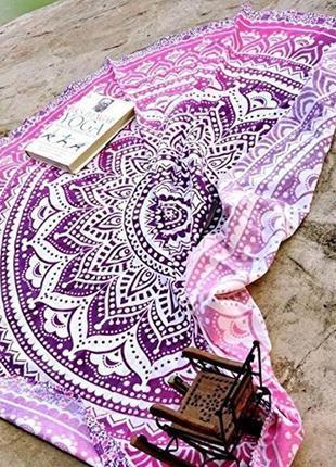14-10 подстилка на пляж круглый пляжный коврик круглий пляжний...