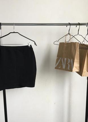 Стильная трикотажная мини юбка юбочка
