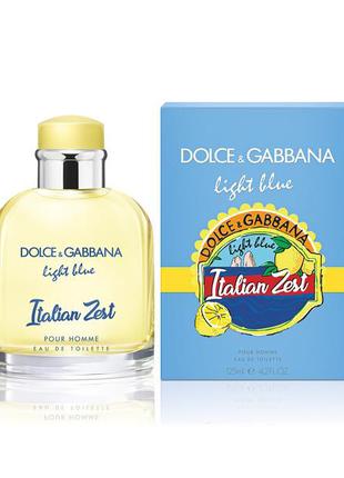 DOLCE & GABBANA Light Blue Italian Zest.  Туалетная вода мужская