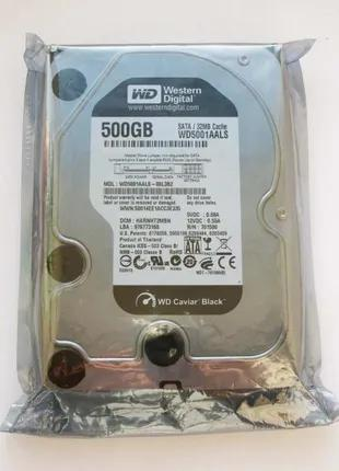 Диск Sata-2 500GB WD Caviar Black 7200rpm 32MB WD5001AALS