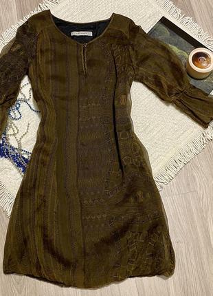 Zara basic шелковое платье