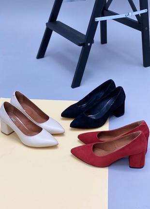 Lux обувь! натуральные кожаные замшевые женские базовые туфли ...