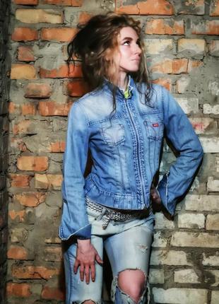 Куртка джинсовая miss sixty на молнии пиджак