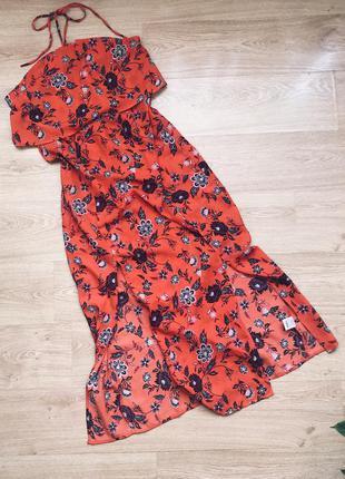 Сарафан платье макси в пол  на завязке от select
