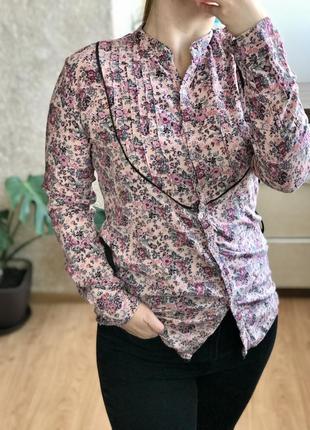 Блуза , рубашка  в цветочный принт🌸