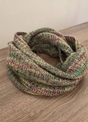 Кольоровий шарф, снуд, хомут