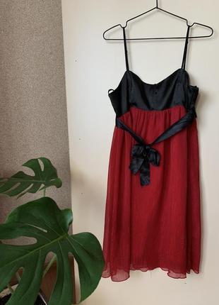 Сукня на бретельках червона ❤️ платье вечернее, на випускной