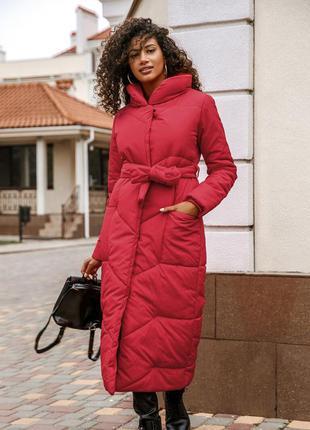Ярко-алая куртка-одеяло