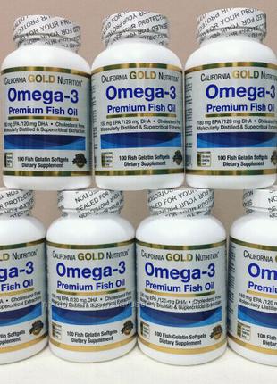 California Gold Omega 3 Омега 3 рыбий жир iHerb США 100 ка