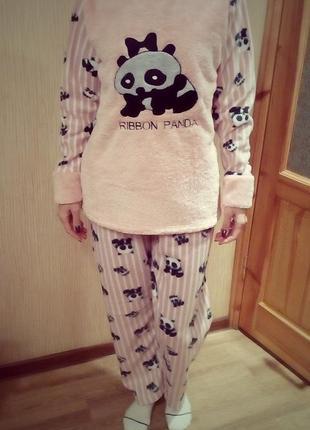 Супер мягкая пижама костюм для  дома  m.l.xl