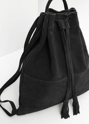 Новая замшевая сумка рюкзак mango