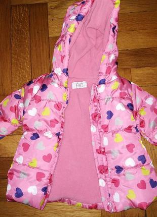 Курточка на флісі від f&f на 0-3 місяця
