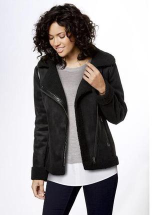 Куртка дубленка косуха 38  euro, эко-замш esmara, германия, де...