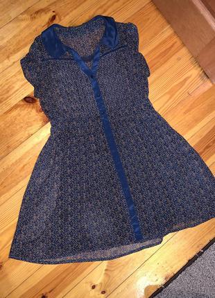 Нежное красивое шифоновое платье