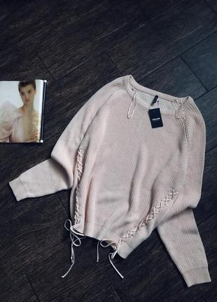 Очень красивый вязаный свитер большого размера