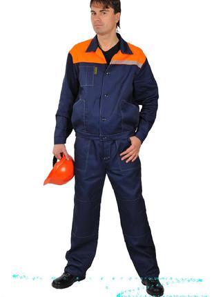 Куртка с полукомбинезоном, демисезонный рабочий костюм
