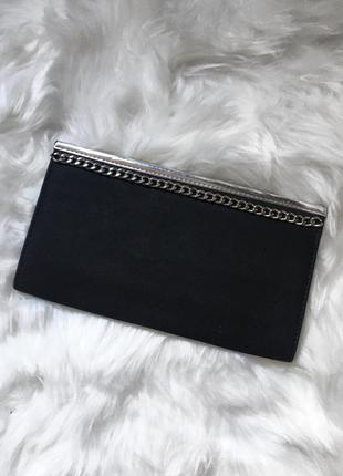 Классический чёрный клатч, сумка, сумочка