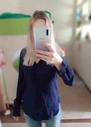 Блузка tommy hilfiger размер s синяя