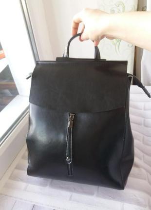 Кожаный рюкзак шкіряний жіночий женский сумка кожаная