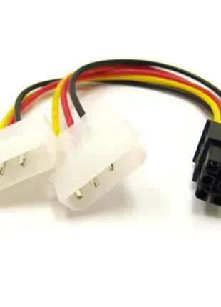 Переходник для видеокарты 2x molex to 6 pin pci-e