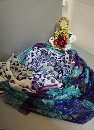 Яркий нежный шифоновый шарф  палантин.
