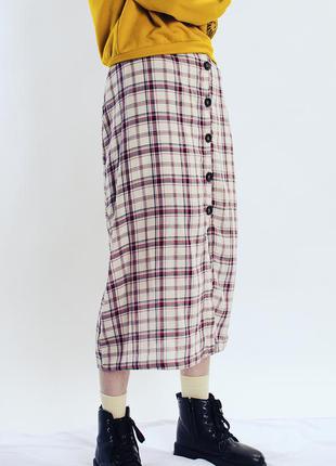 Легкая юбка миди, повседневная юбка прямого кроя, юбка с пугов...