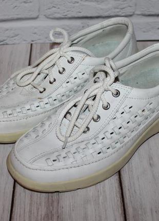 Комфортные кожаные туфли ecco 41 размер 100% натуральная кожа