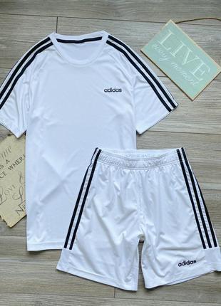 Комплект футбольная форма adidas climalite m l ор-л