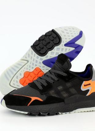 Adidas nite jogger шикарные мужские кроссовки адидас чёрные