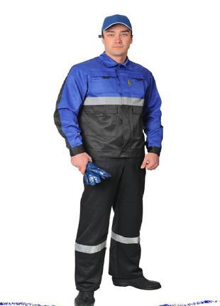 Рабочий костюм с греты, спецодежда со светоотражающей полосо
