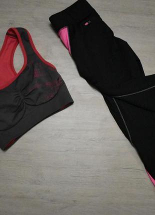 Спортивные трендовые бриджи workout спортивные капри лосины ле...