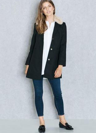 Topshop пальто чёрное весна-осень