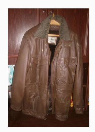 Куртка кожаная l-xl