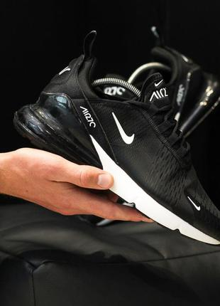 Nike air max 270 black шикарные мужские кроссовки найк чёрные
