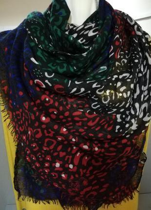 Супер тонкий мягкий яркий шарф из вискозы