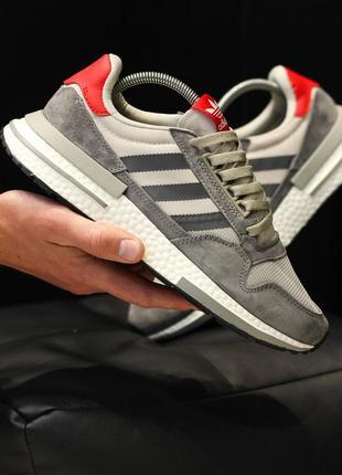 Adidas zx 500 шикарные мужские кроссовки адидас серые