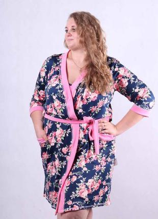 Комплект, халат + ночная сорочка 1572