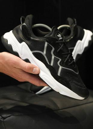 Adidas ozweego black шикарные мужские кроссовки адидас чёрные