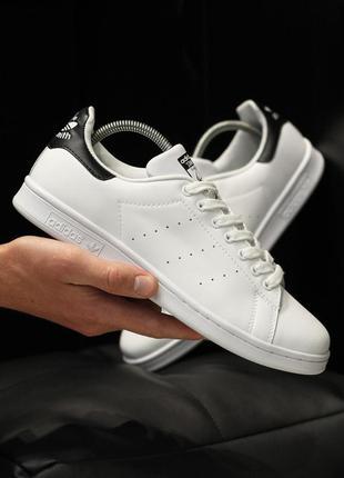 Adidas stan smith шикарные мужские кроссовки адидас белые с чё...