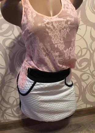 Модная стёганая юбочка