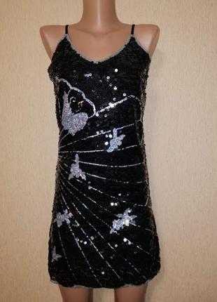 🔥🔥🔥красивое короткое черное вечернее, коктейльное платье в пай...