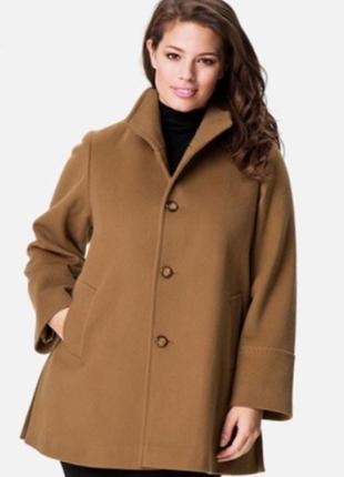 Стильное пальто свободного кроя оверсайз шерсть размер 52-56