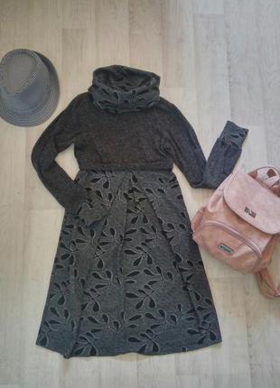Уютное и тёплое платье-миди