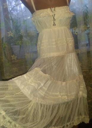 Нежное летнее платье с фатином от к-во