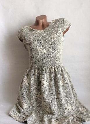 Платье-миди с ажурным набивным узором от topshop