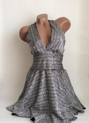 """Платье """"серебро"""" с юбкой солнце-клёш от zack london"""