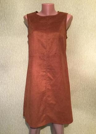 Платье под замшу f&f 12 размер