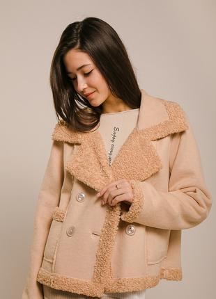 Укороченное женское пальто M L